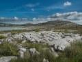 """Le Burren : des dalles calcaires à perte de vue et une végétation rase balayée par les vents. """"C'est un pays où il n'y a pas assez d'eau pour noyer un homme, pas assez d'arbres pour le pendre, pas assez de terre pour l'enterrer."""""""